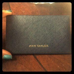 Ann Taylor Cute navy card case or wallet